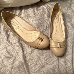 Taupe slip on flats Brand new